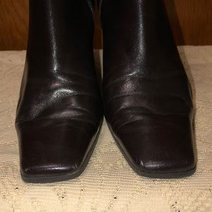 Nine West Women's Dark Brown Leather Heel Boot